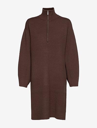 TalliGZ zipper dress - summer dresses - coffee bean