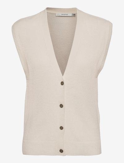 ThildaGZ wool waistcoat - strikveste - egret