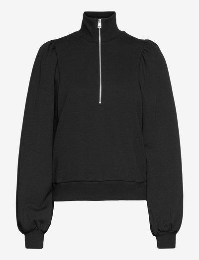 NankitaGZ zipper sweatshirt - sweatshirts & hættetrøjer - black