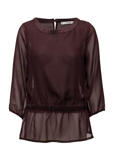 Blair blouse AO16 - DEEP BOURGONE