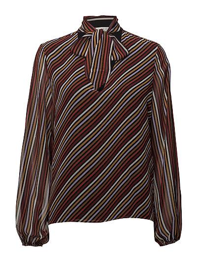 Riba blouse MA18 - RED STRIBE