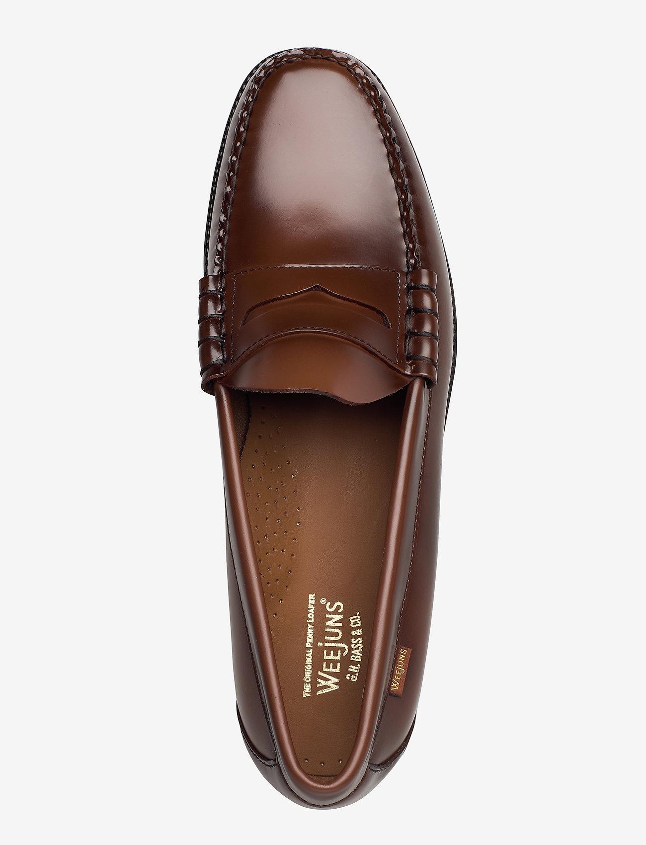 G.H. BASS - GH WEEJUN II LARSON MOC PENNY - skor - mid brown lthr - 3