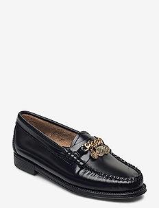 EASY WEEJUN Lianna Chain II - loafers - black lthr
