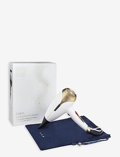 Ghd Helios White & Satin Gold Limited Edition Hair Dryer - hårfön - white