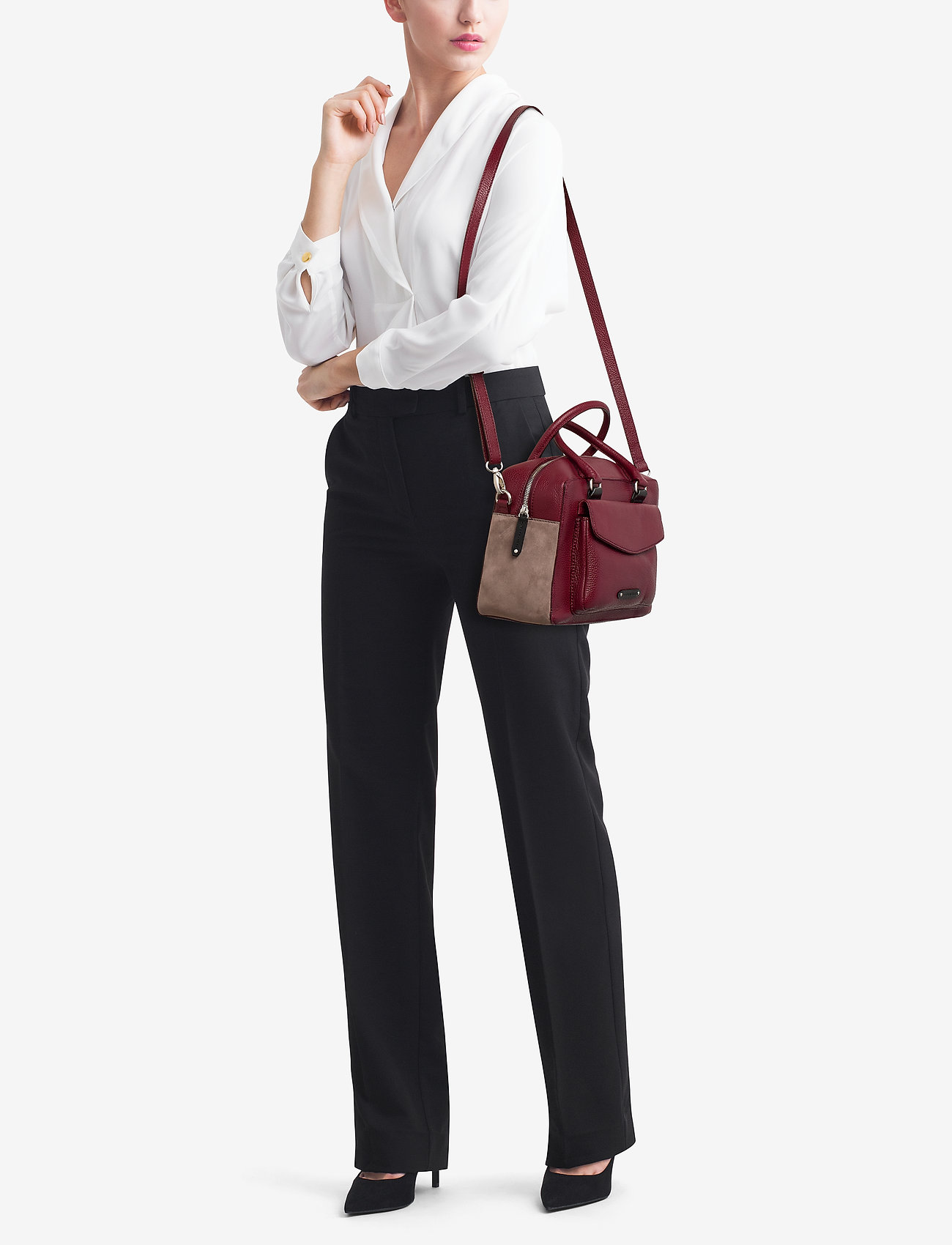 GiGi Fratelli Handbag - RUBINO/SUEDE