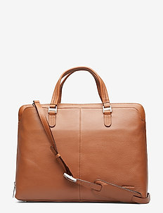 "Elegance businessbag (fits 15,6"") - SADDLE"