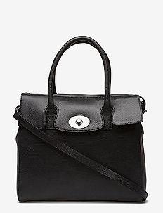 "Romance ""tablet"" Handbag - BLACK"