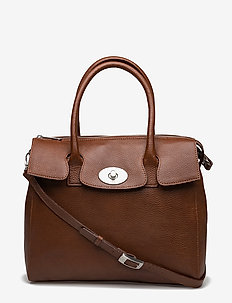 "Romance ""tablet"" Handbag - BRANDY"