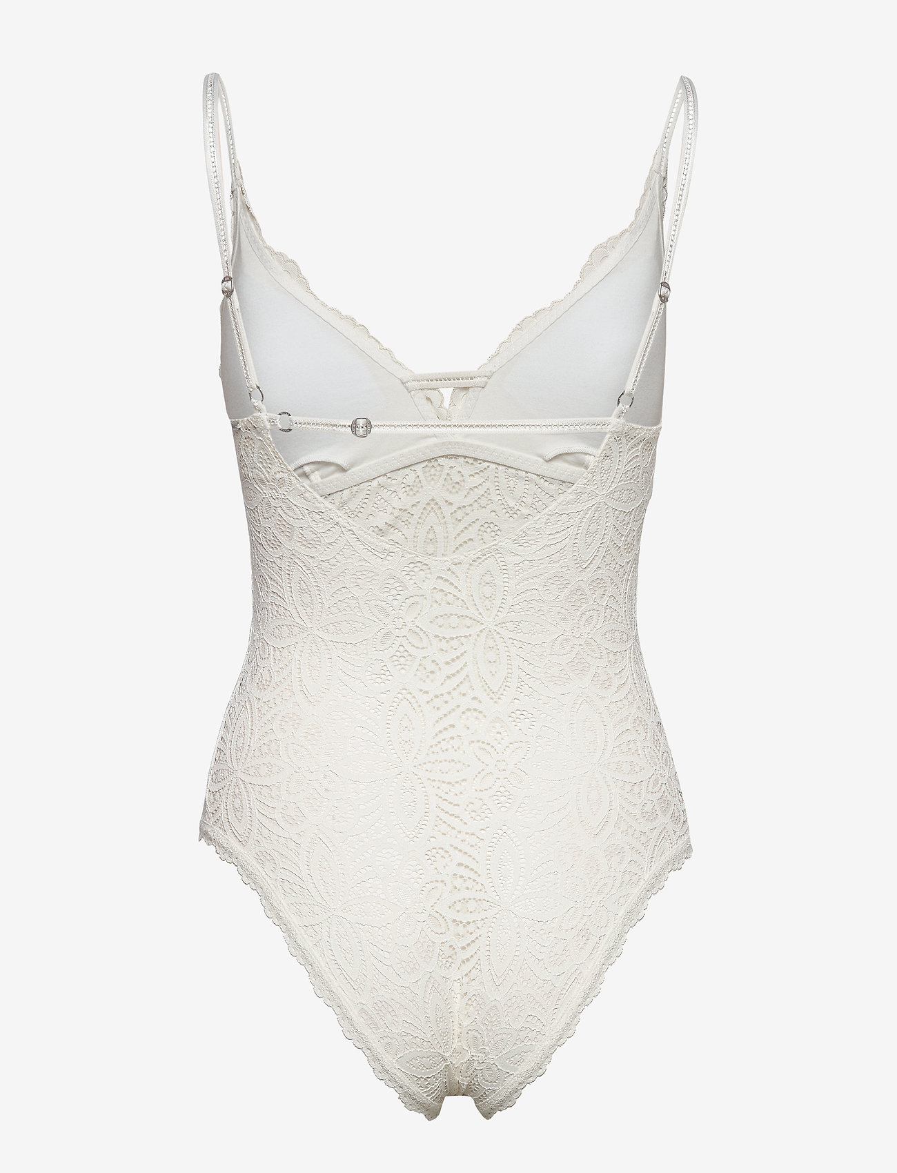 Gilly Hicks - Crochet Lace Bodysuit - bodies & slips - white lace