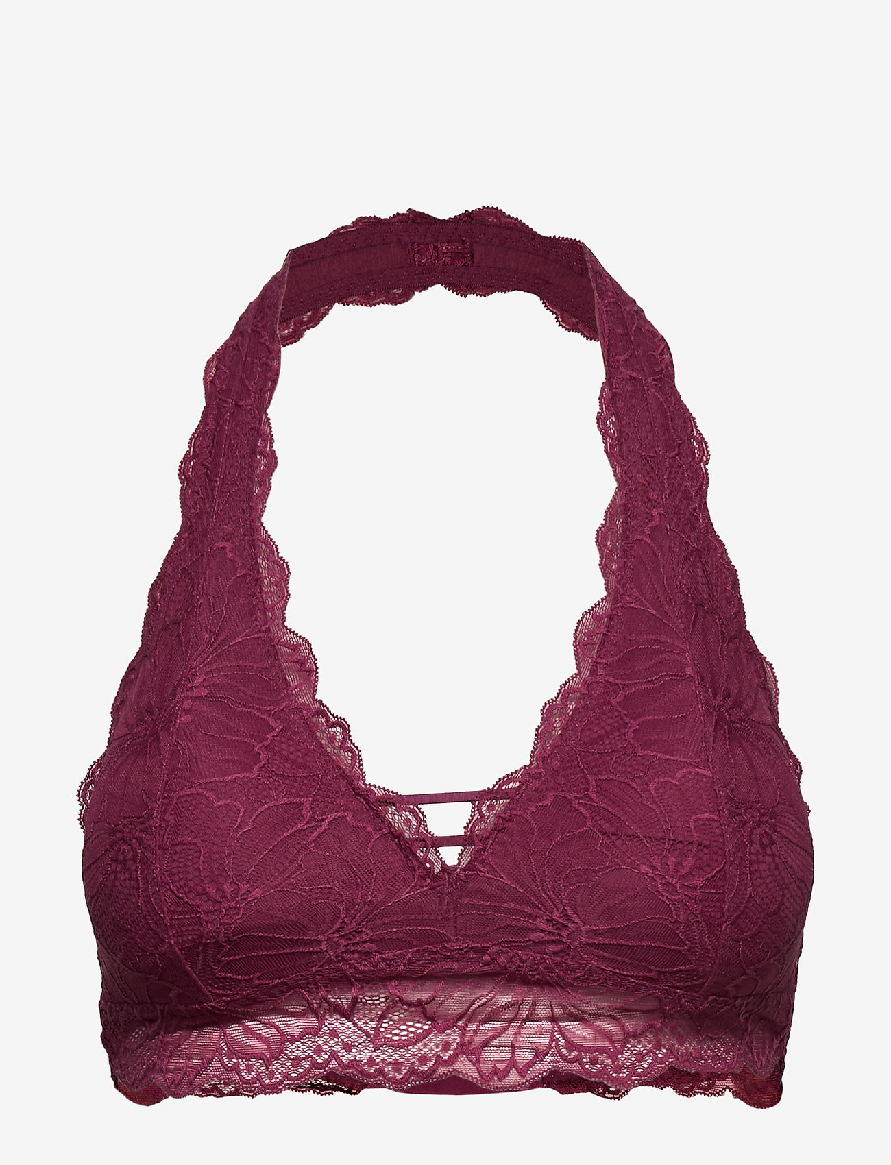 Gilly Hicks - Lace Halter - bralette & corset - burg lace