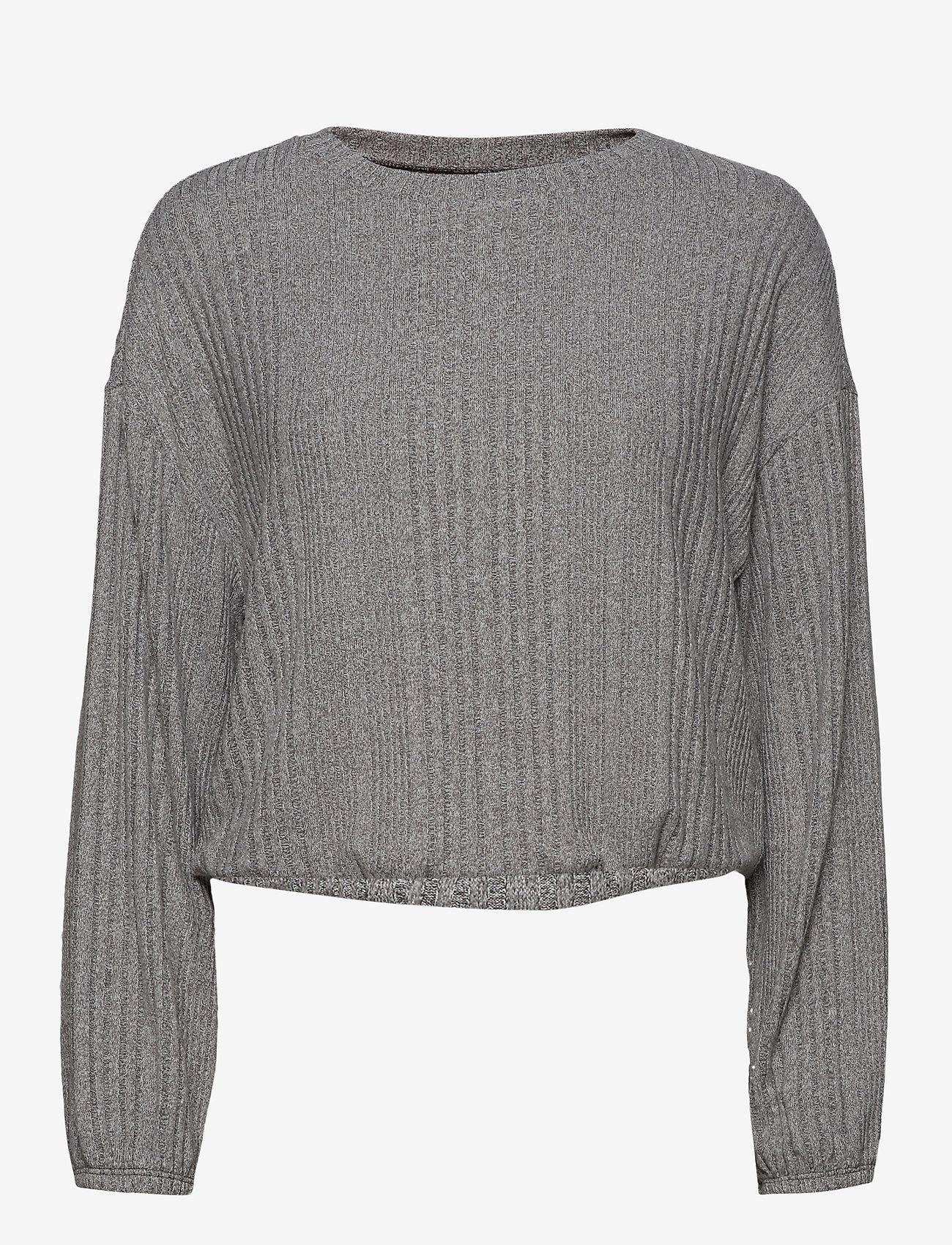 Gilly Hicks - VAR RIB COZY LS - overdele - dark heather grey - 0