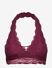 Gilly Hicks - Lace Halter - bralette & corset - burg lace - 0