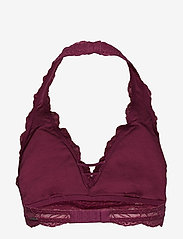 Gilly Hicks - Lace Halter - bralette & corset - burg lace - 2