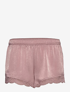 Satin Lace Shorts - szorty - pink mauve