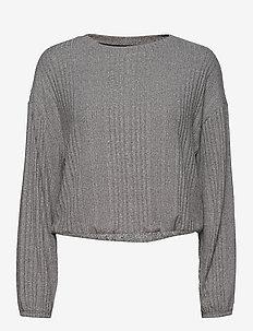 VAR RIB COZY LS - overdele - dark heather grey