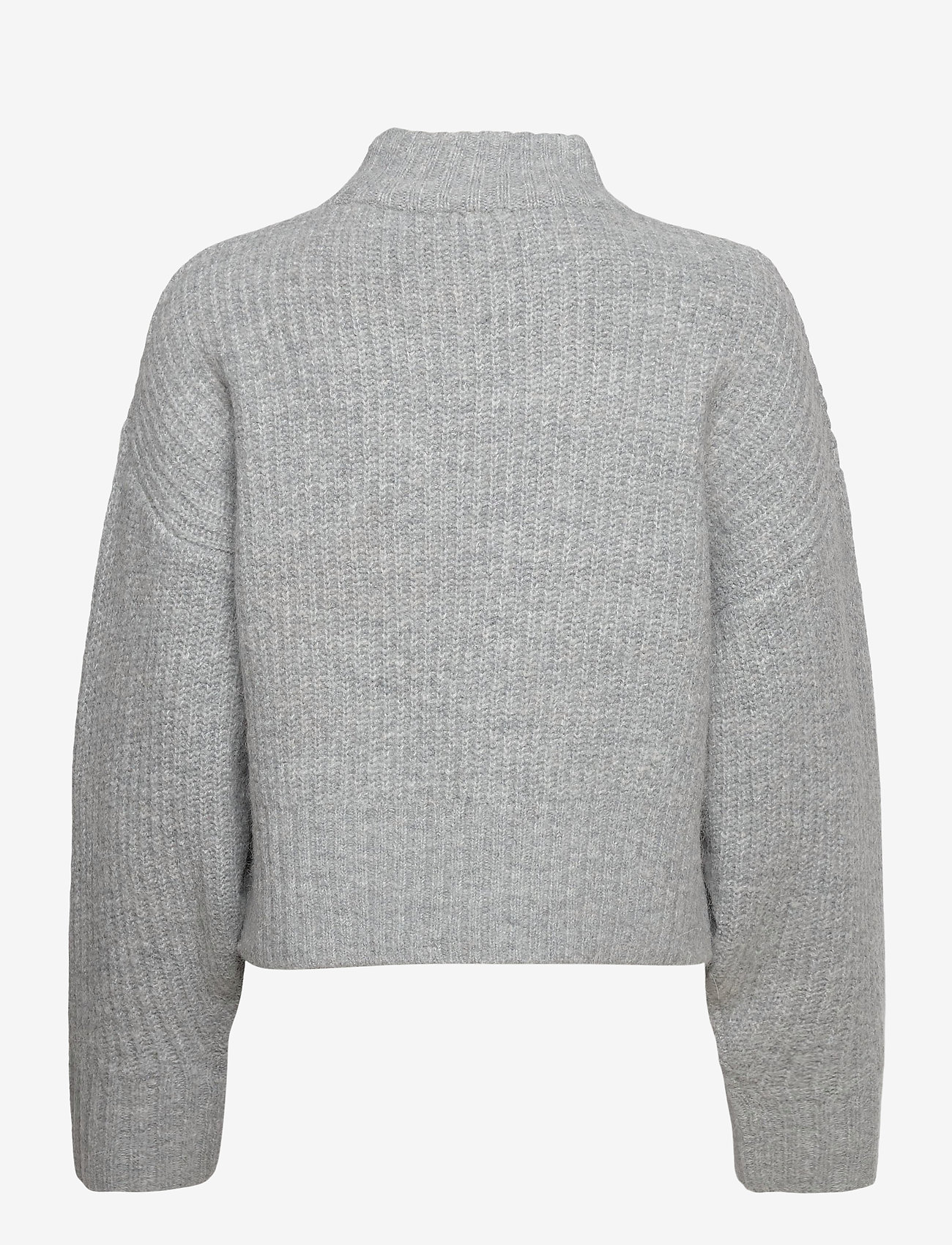 Gina Tricot - Kira knitted sweater - turtlenecks - grey melange (8181) - 1