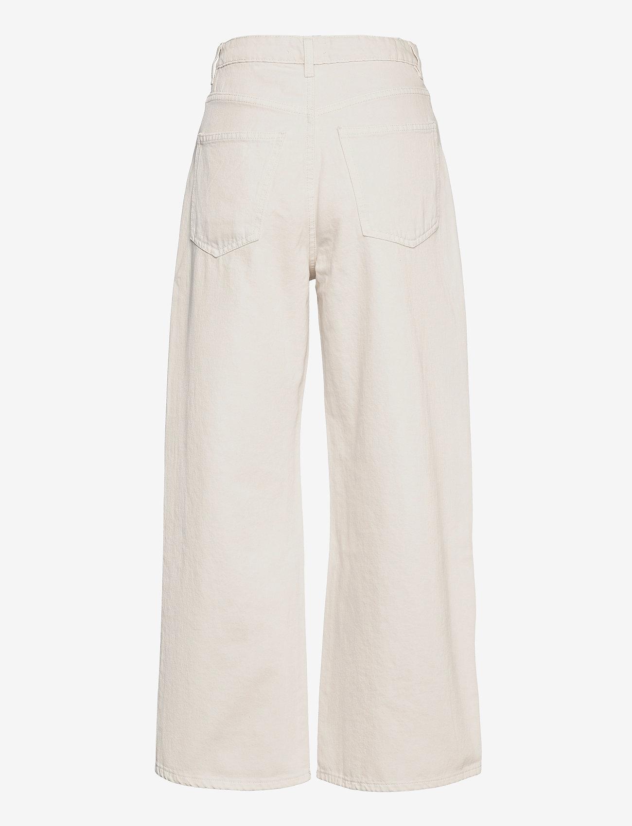 Gina Tricot - Idun crop wide jeans - bukser med brede ben - antique white (1066) - 1