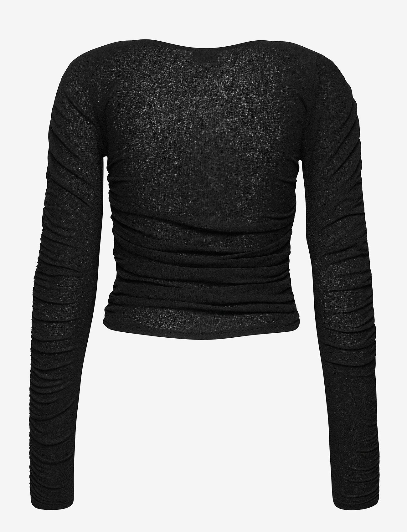 Gina Tricot - Rita top - langærmede toppe - black (9000) - 1