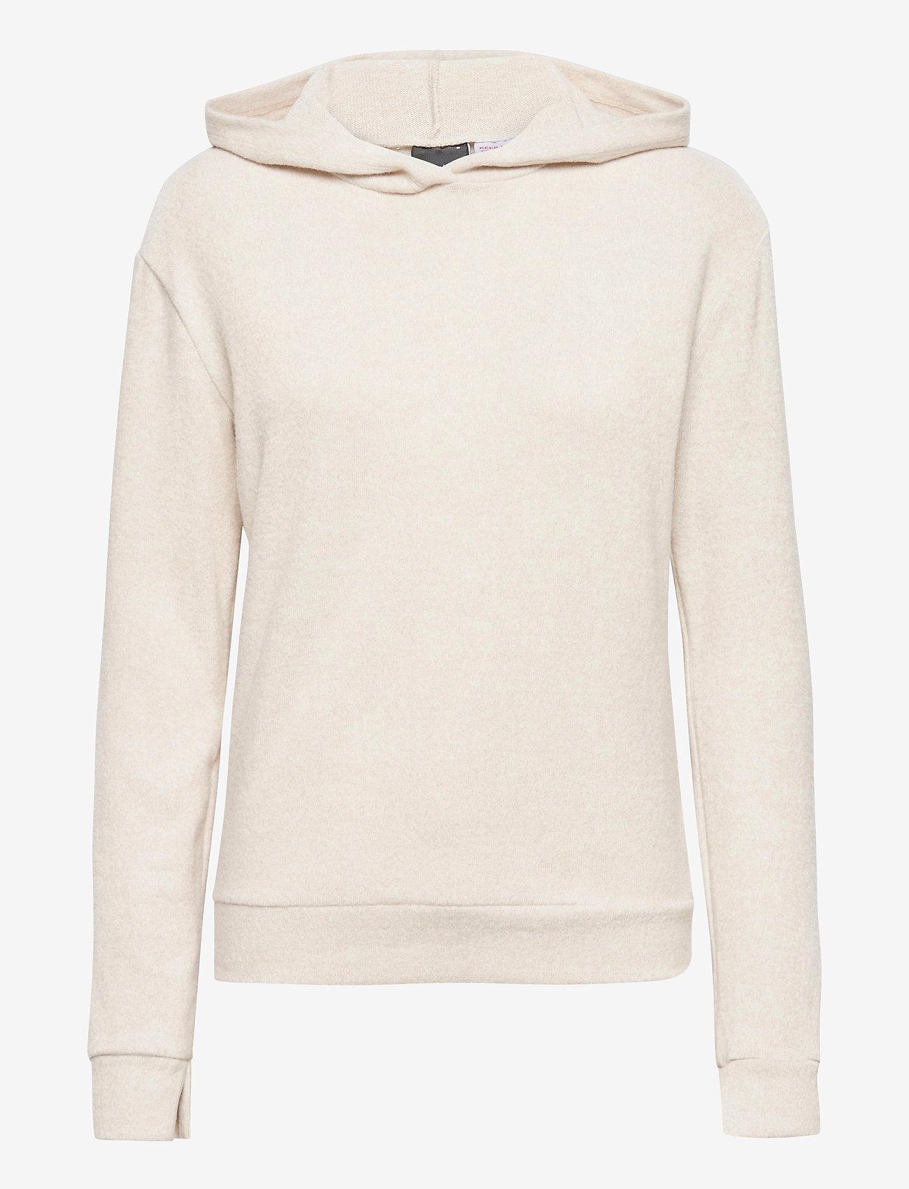 Gina Tricot - Alicia hoodie - hættetrøjer - beige (1040) - 0