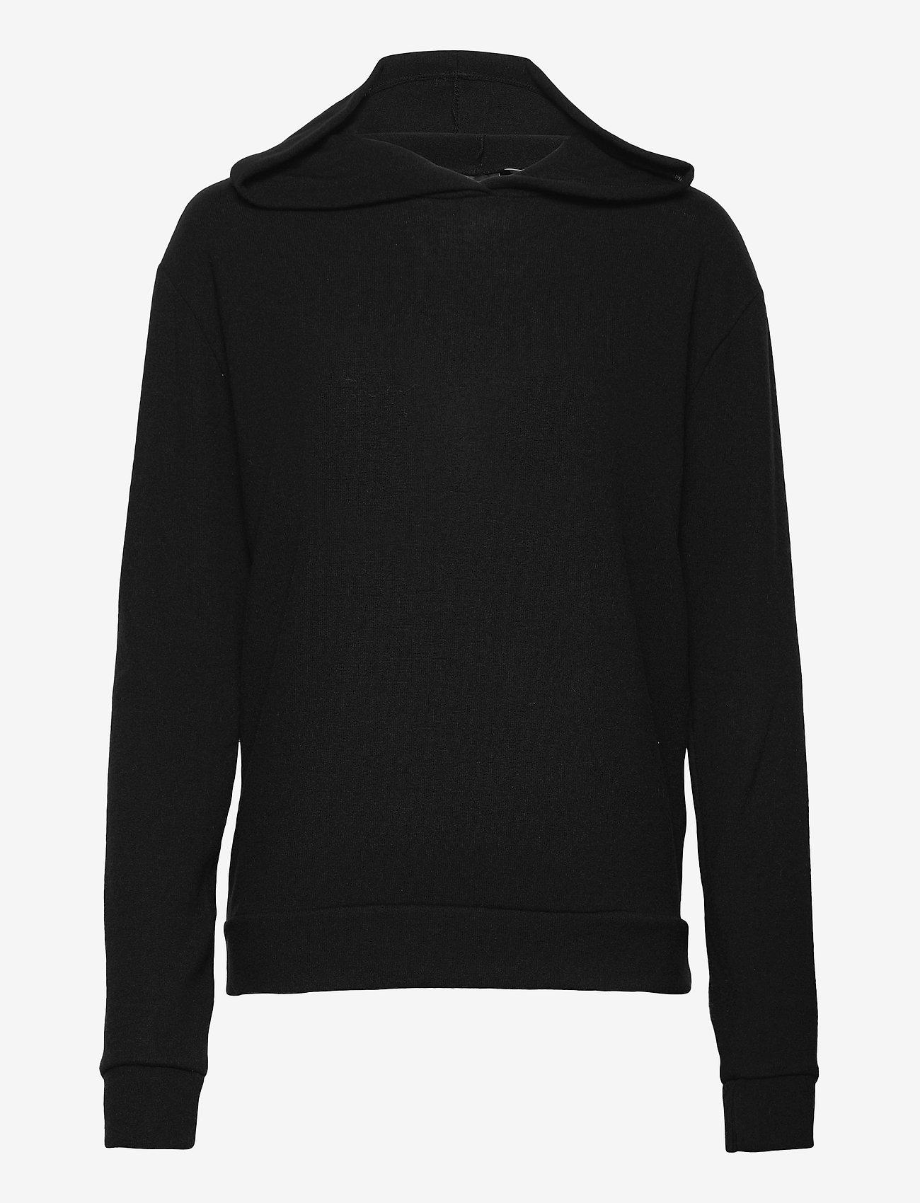 Gina Tricot - Alicia hoodie - hættetrøjer - black (9000) - 0