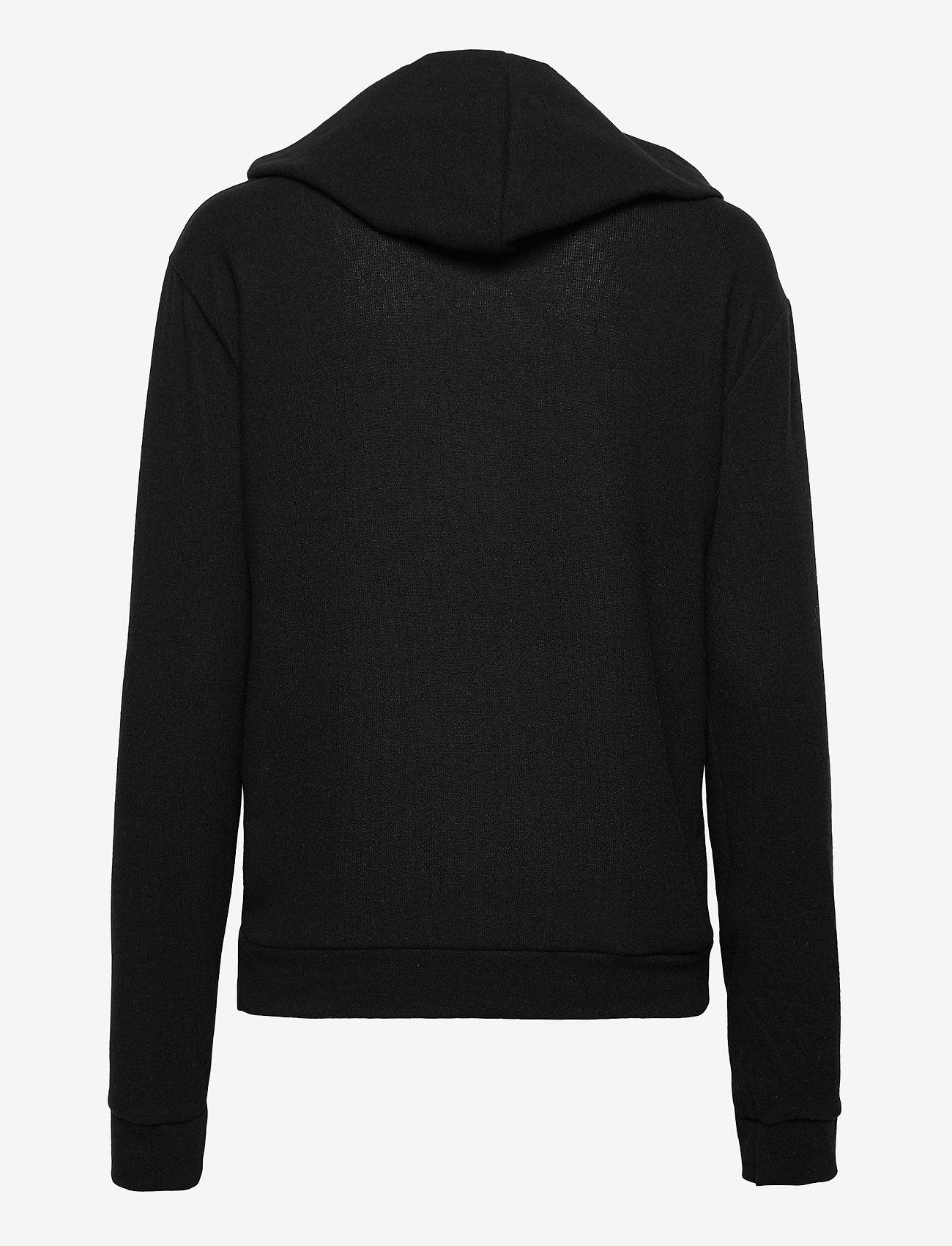 Gina Tricot - Alicia hoodie - hættetrøjer - black (9000) - 1
