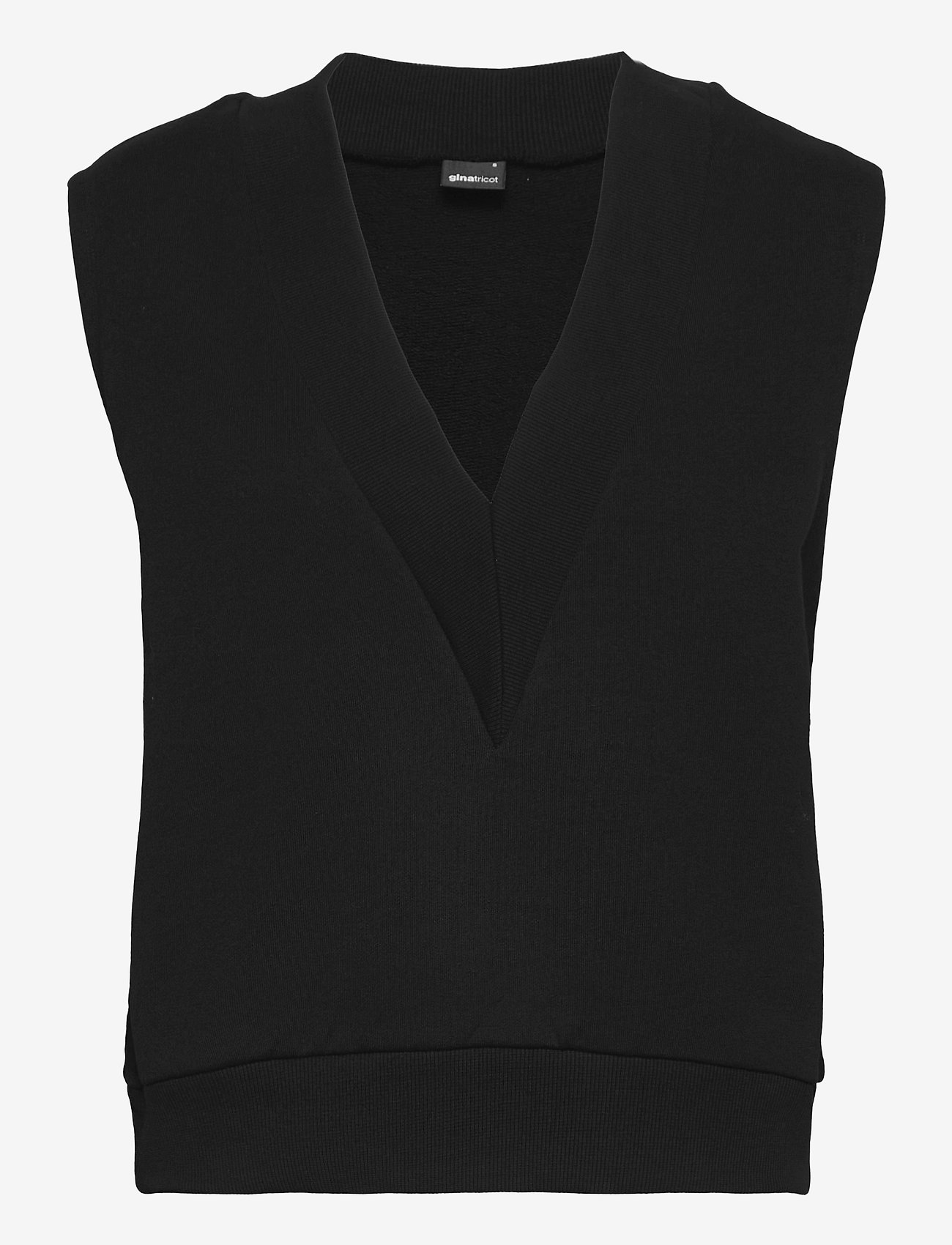 Gina Tricot - Love vest - knitted vests - black (9000) - 0