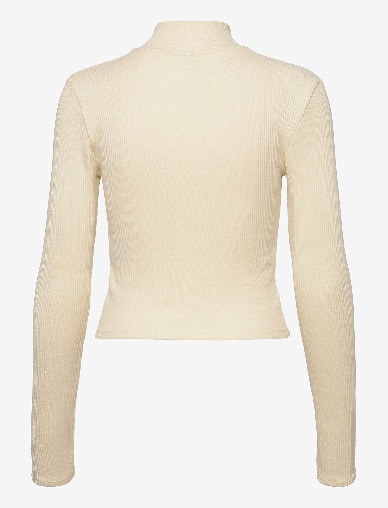 Gina Tricot - Eloise zip top - strikkede toppe - cloud cream (1601) - 1