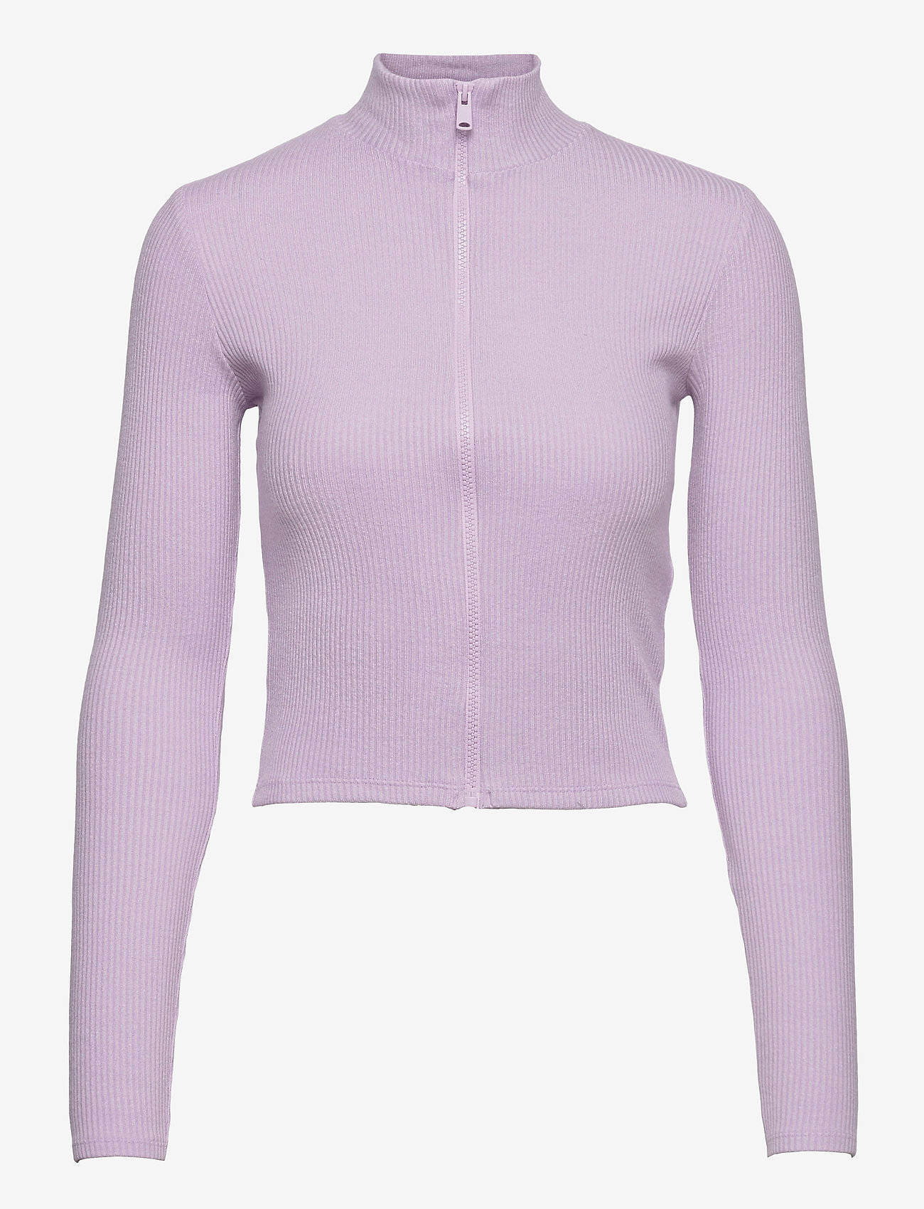 Gina Tricot - Eloise zip top - strikkede toppe - orchid petal (4330) - 0