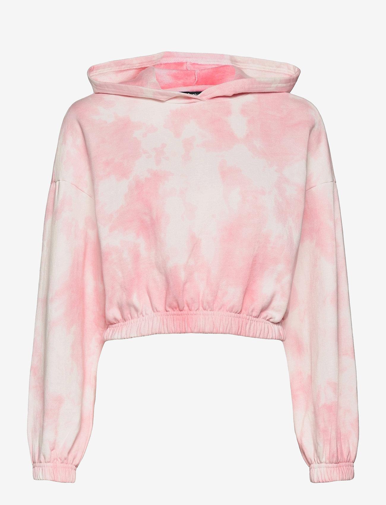 Gina Tricot - Jackie hoodie - hættetrøjer - pink tye die (3987) - 0