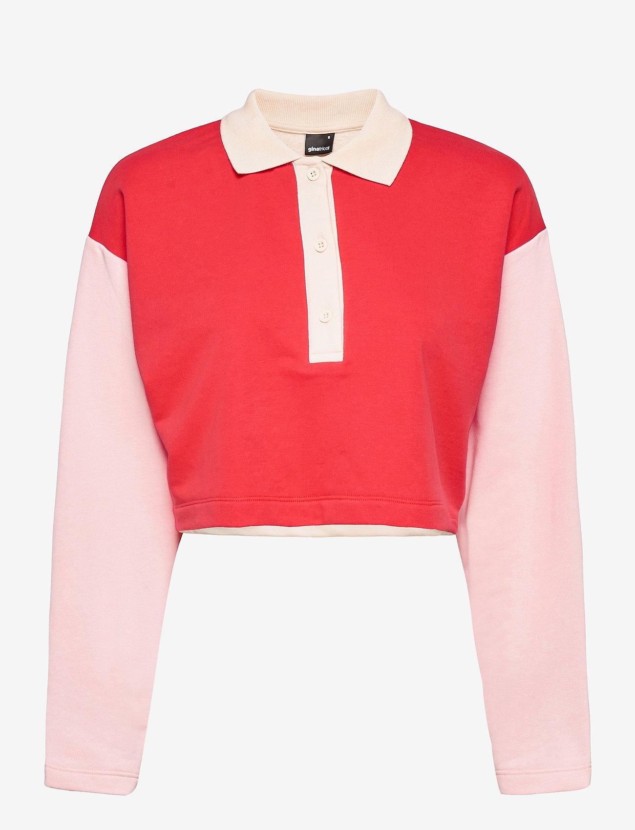 Gina Tricot - Jessy sweater - polohemden - multi pink (3970) - 0