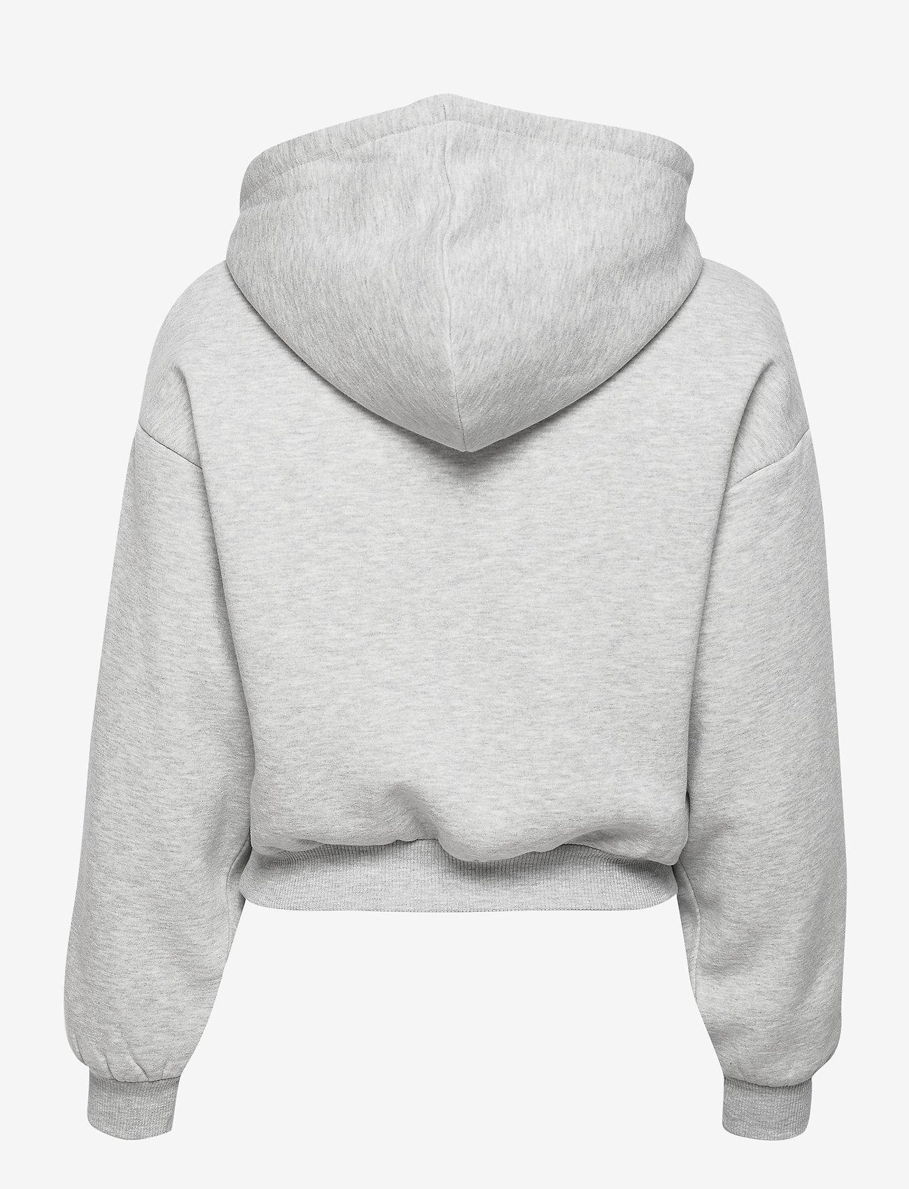 Gina Tricot - Selma hoodie - hættetrøjer - grey melange (8181) - 1