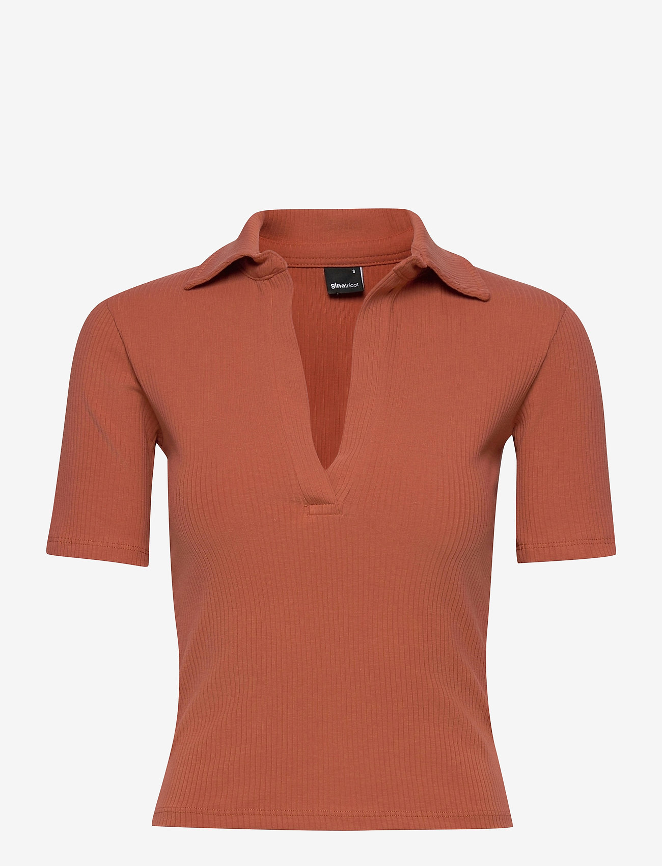 Gina Tricot - Klara top - t-shirts - chutney (2250) - 0