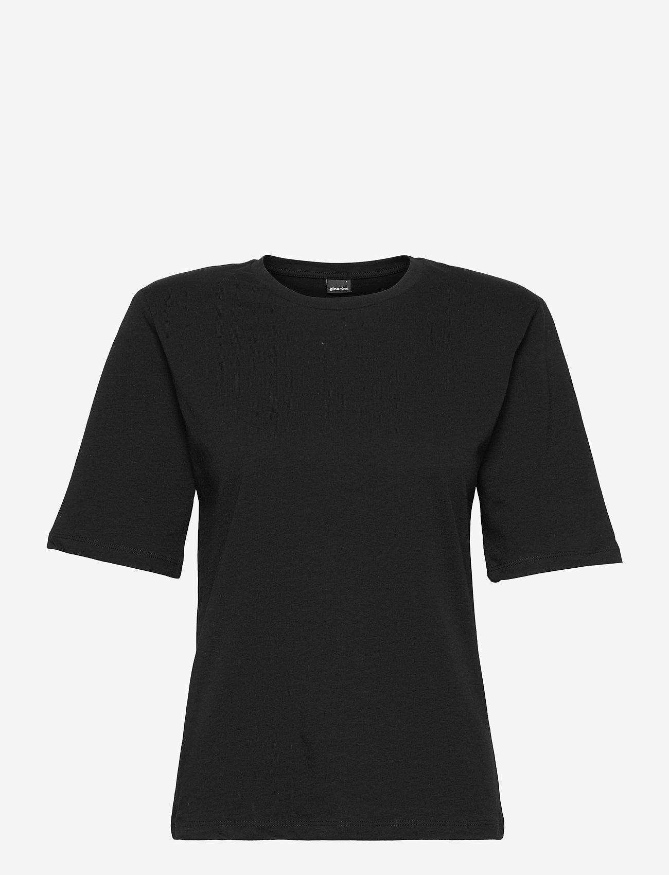 Gina Tricot - Tara tee - t-shirts - black (9000) - 0