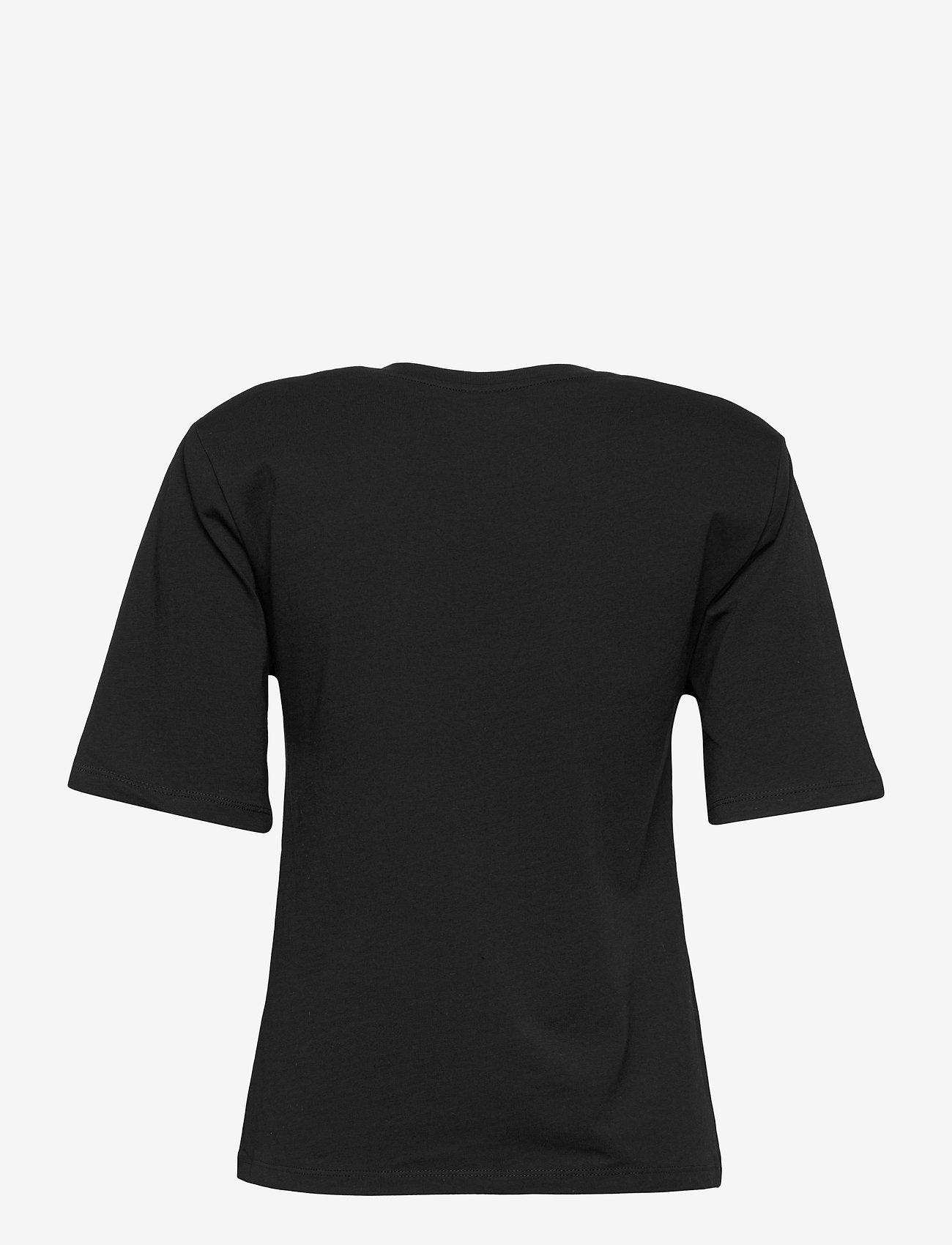 Gina Tricot - Tara tee - t-shirts - black (9000) - 1