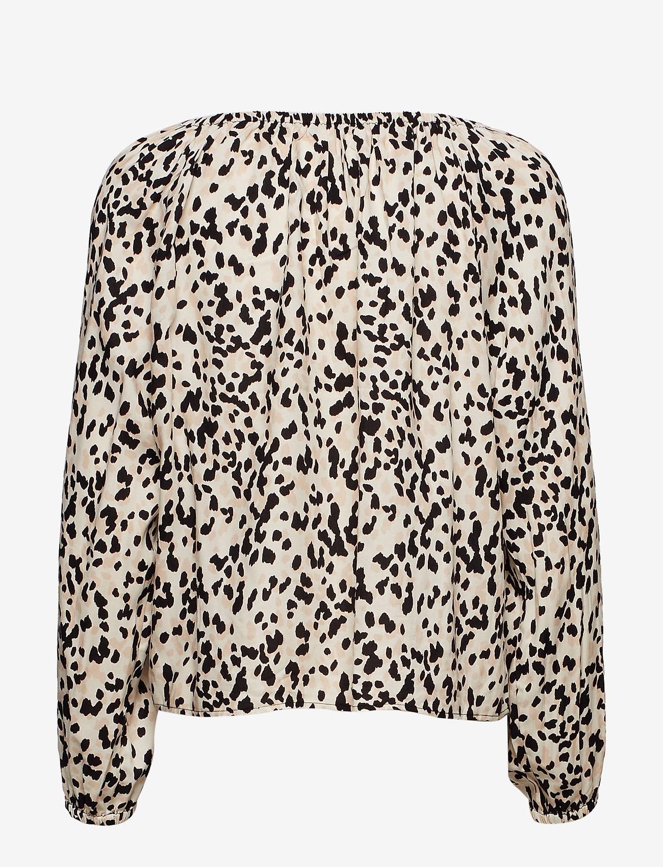 Gina Tricot Saga blouse - Bluzki & Koszule BEIGE/SPOT - Kobiety Odzież.