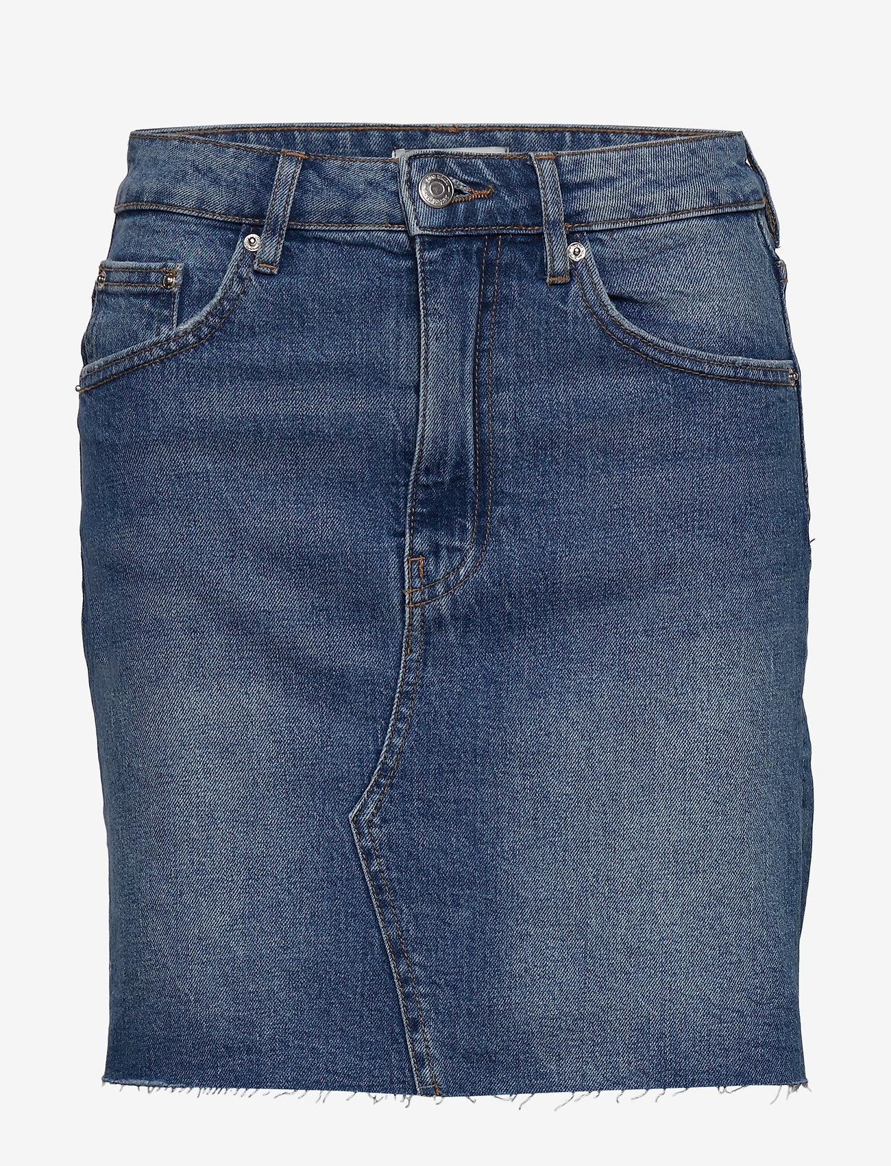 Gina Tricot - Vintage denim skirt - jeansowe spódnice - mid blue - 0