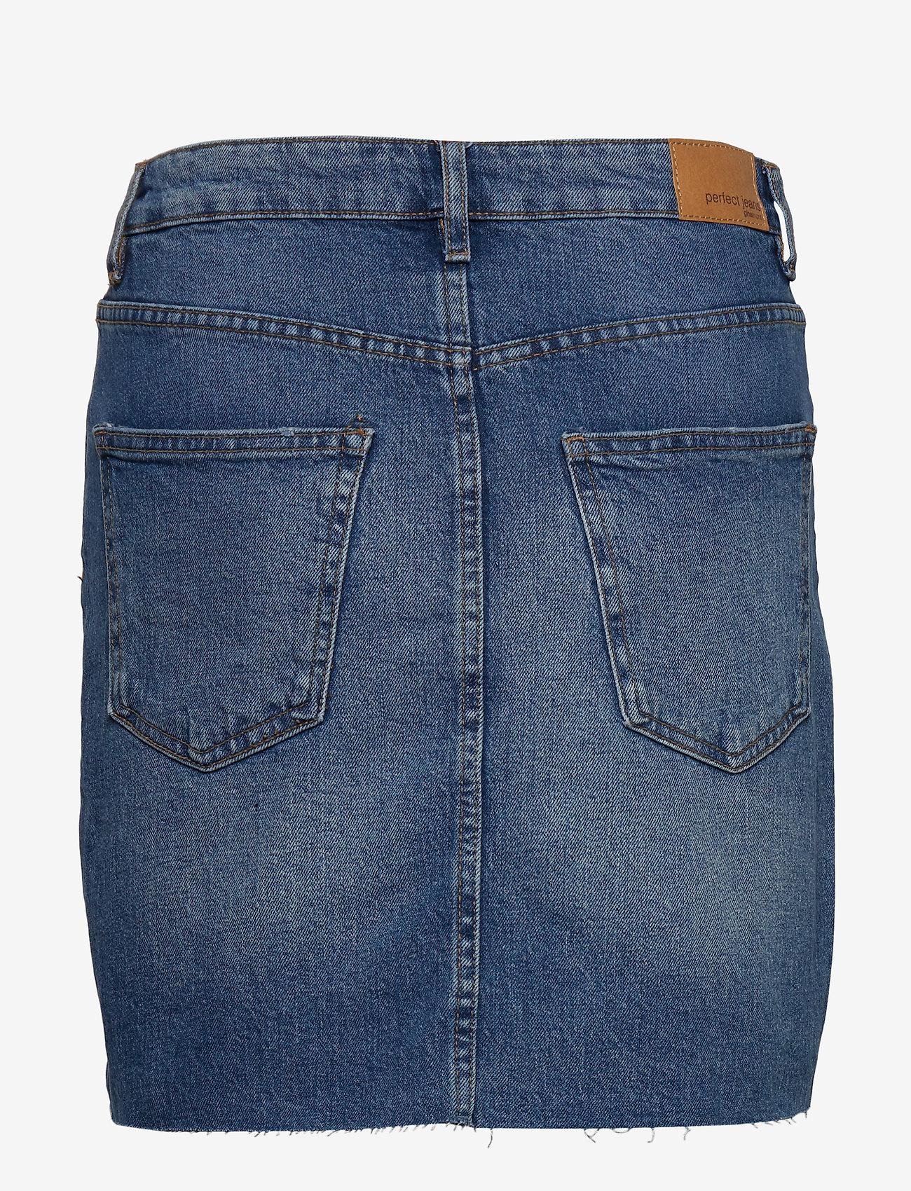 Gina Tricot - Vintage denim skirt - jeansowe spódnice - mid blue - 1