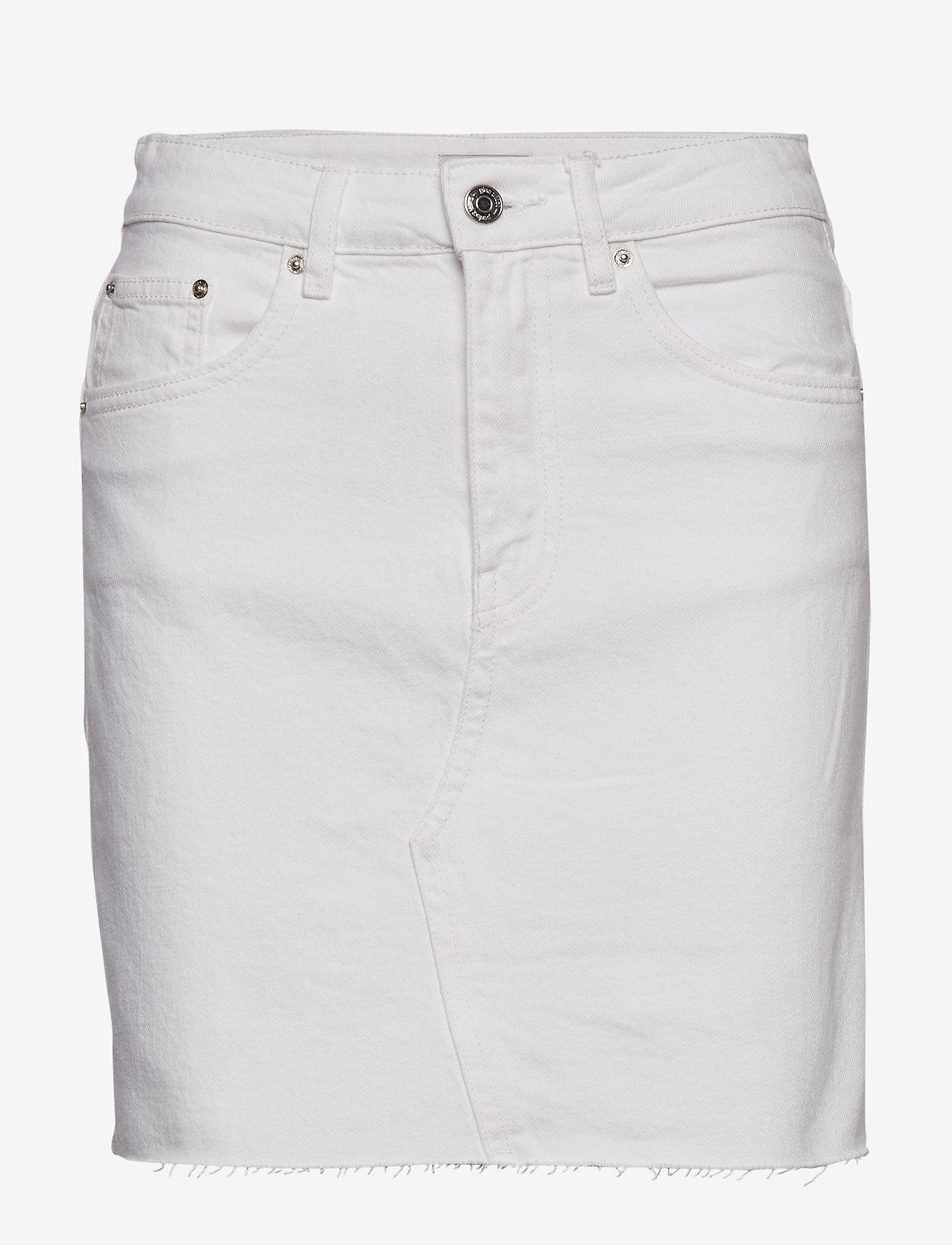 Gina Tricot - Vintage denim skirt - farkkuhameet - offwhite