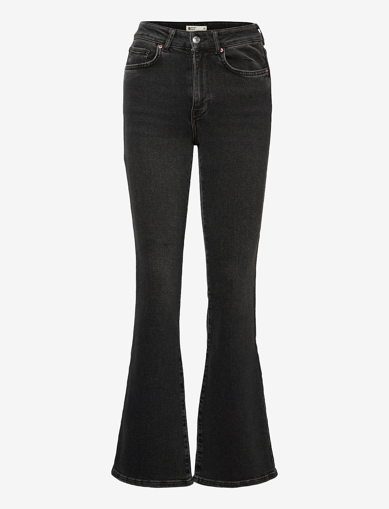 Gina Tricot - Meja flare jeans - schlaghosen - black/grey - 0
