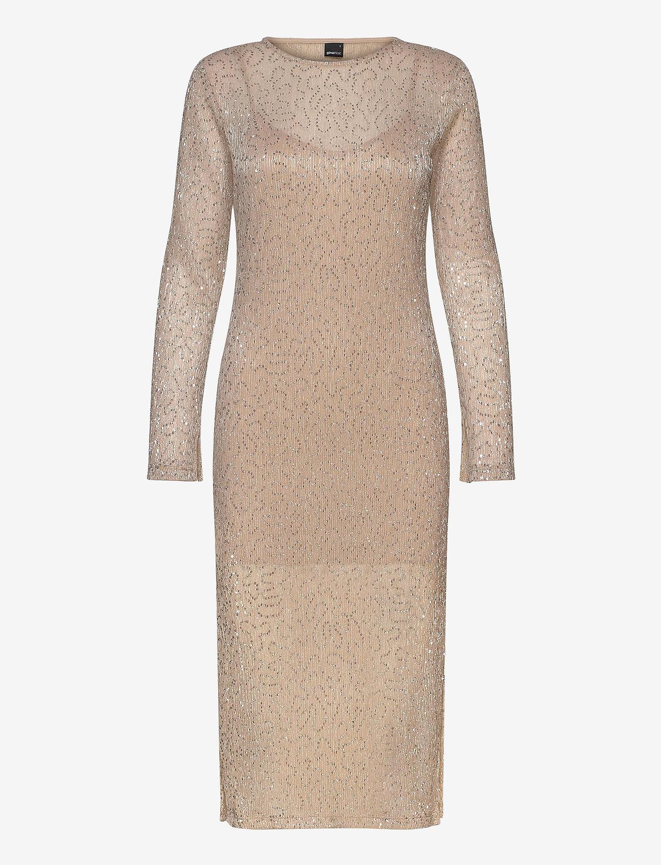 Gina Tricot - Judy midi dress - midimekot - beige (1040)