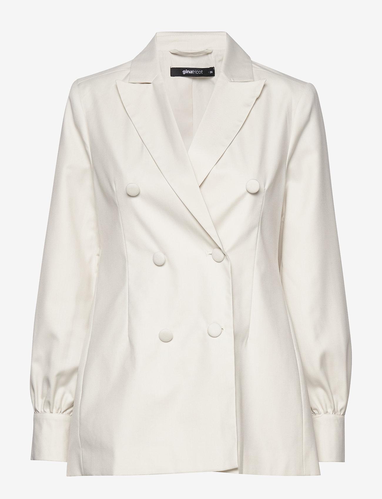 Gina Tricot - Sally blazer - bleiserit - white (1000)