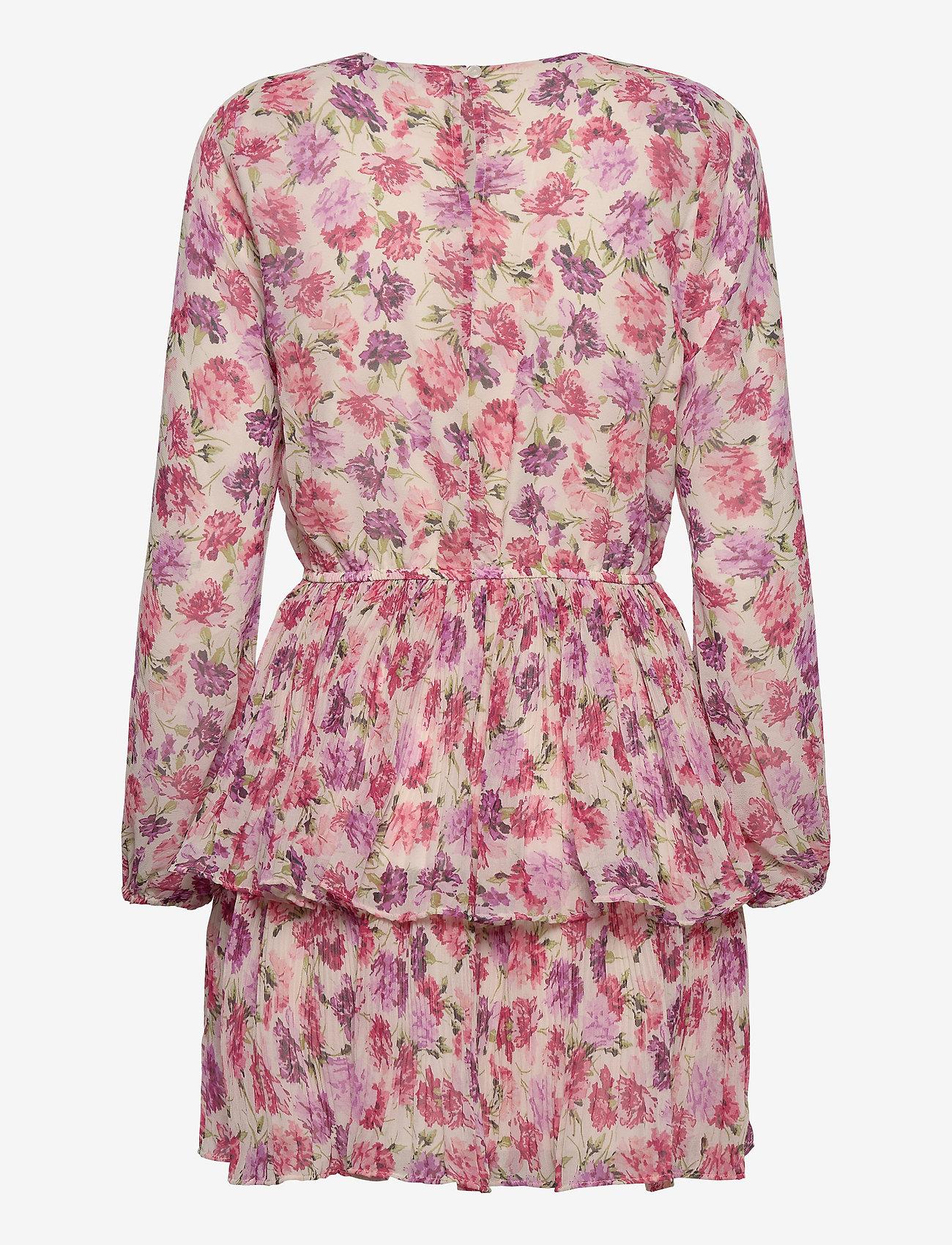 Gina Tricot - Amber pleated dress - lyhyet mekot - flower (4140)