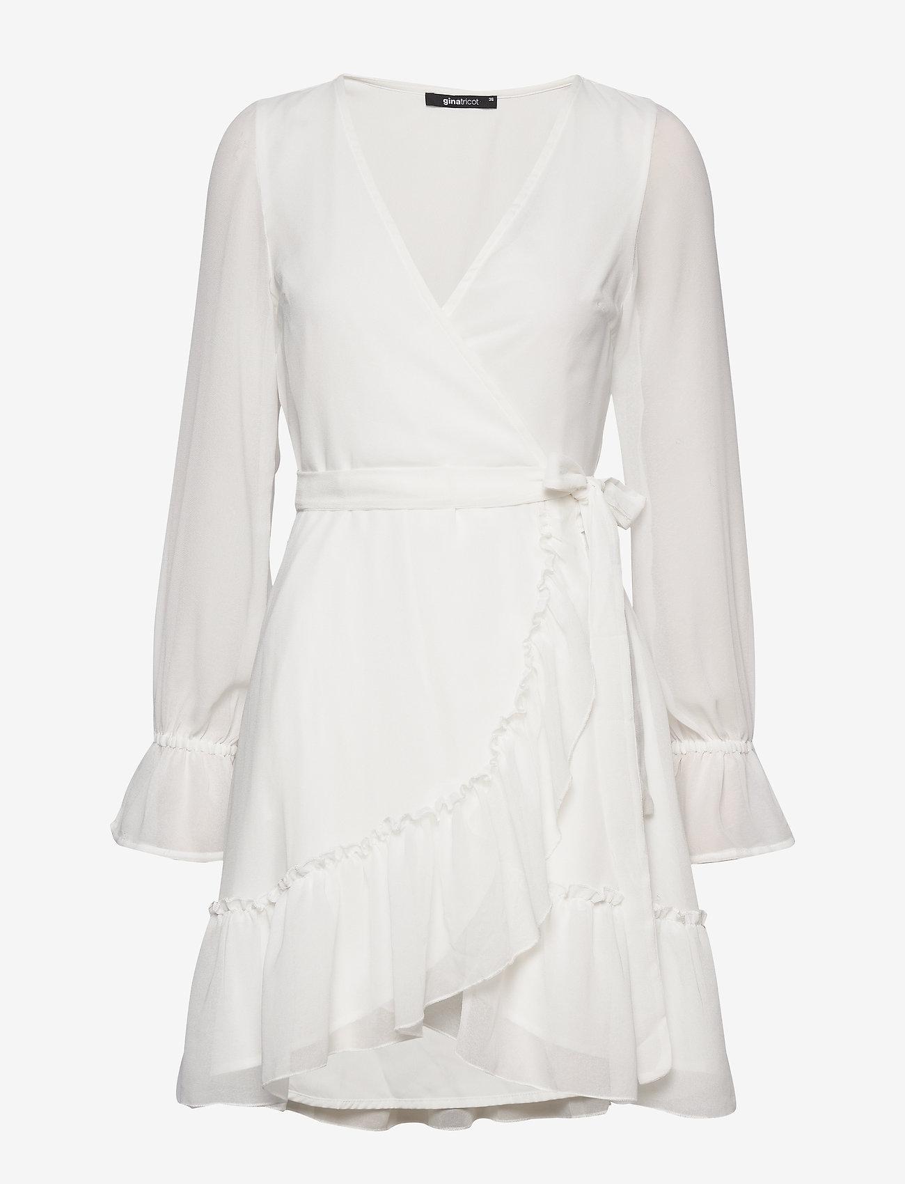 Gina Tricot - Julianna wrap dress - kietaisumekot - offwhite