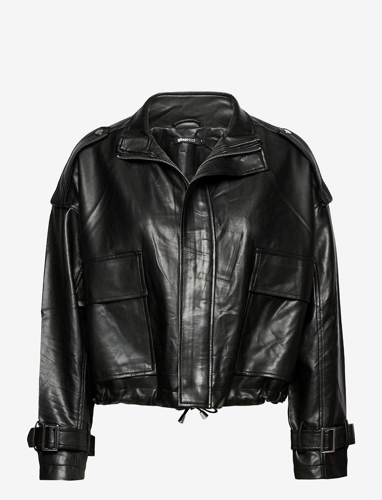 Gina Tricot - Hope pu jacket - skinnjakker - black (9000) - 0