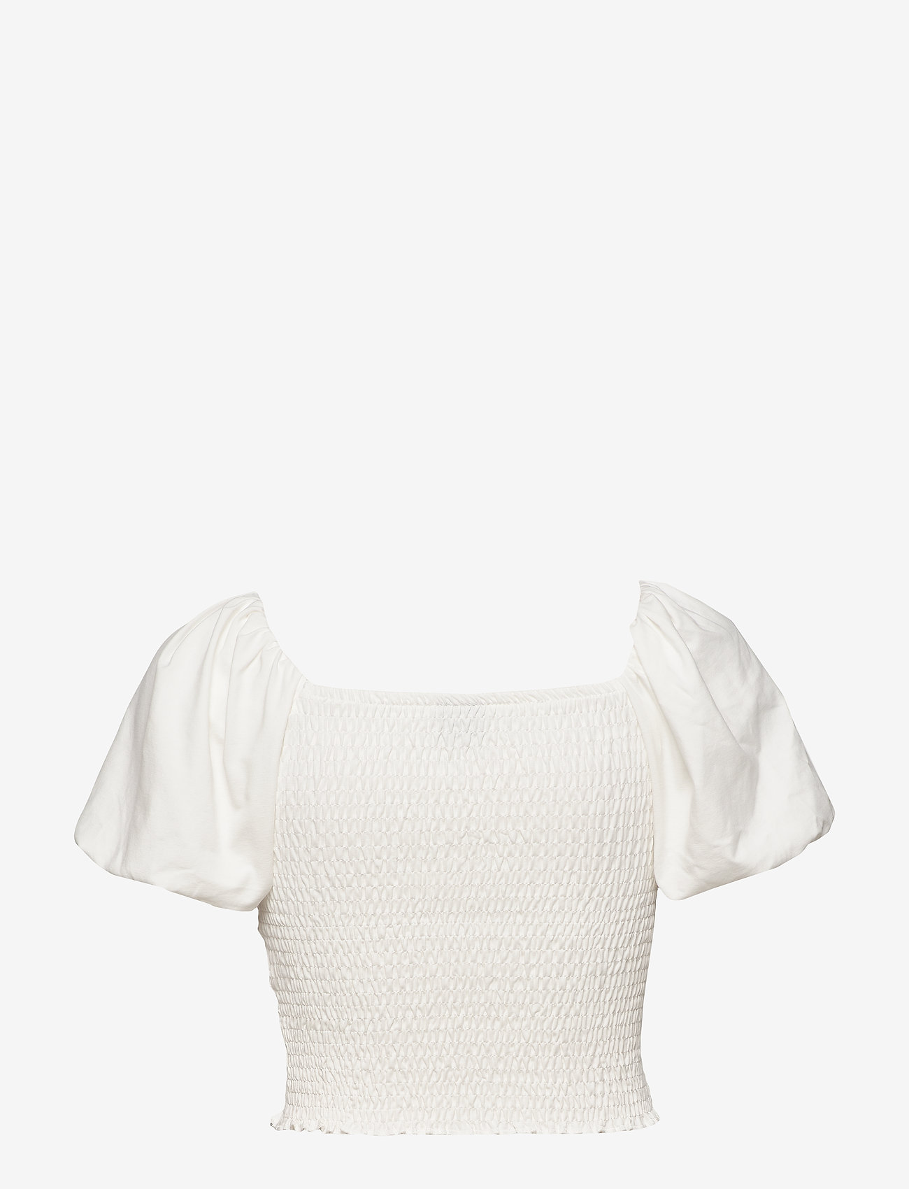 Gina Tricot - Nelma puff sleeve top - crop tops - offwhite - 1