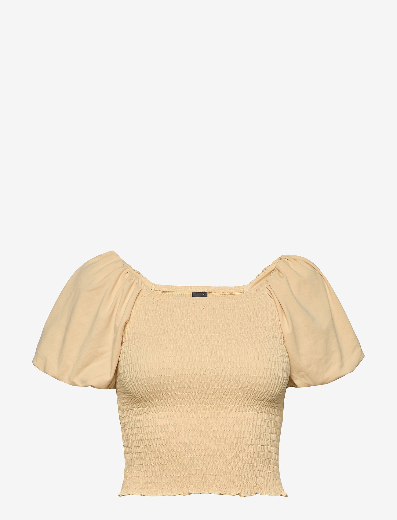 Gina Tricot - Nelma puff sleeve top - crop tops - reed yellow (2156) - 0