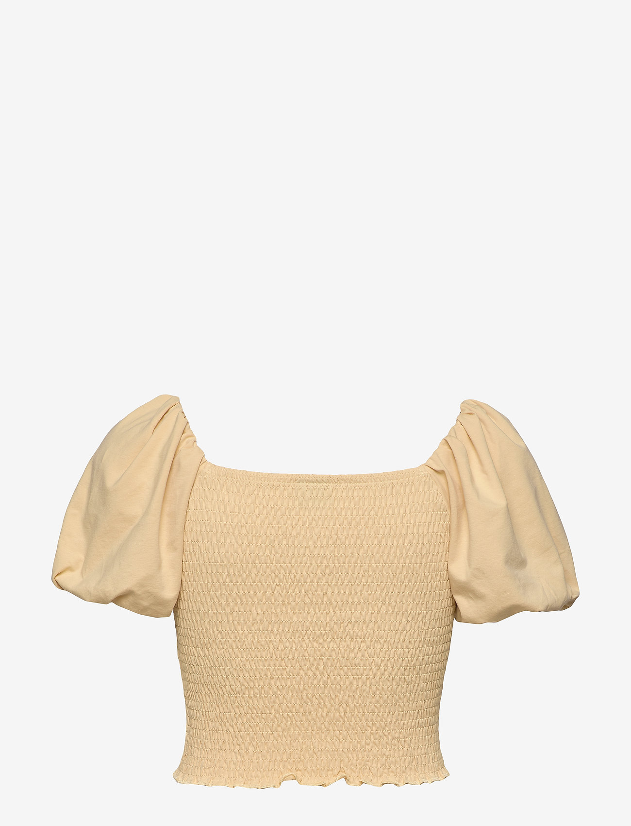 Gina Tricot - Nelma puff sleeve top - crop tops - reed yellow (2156) - 1