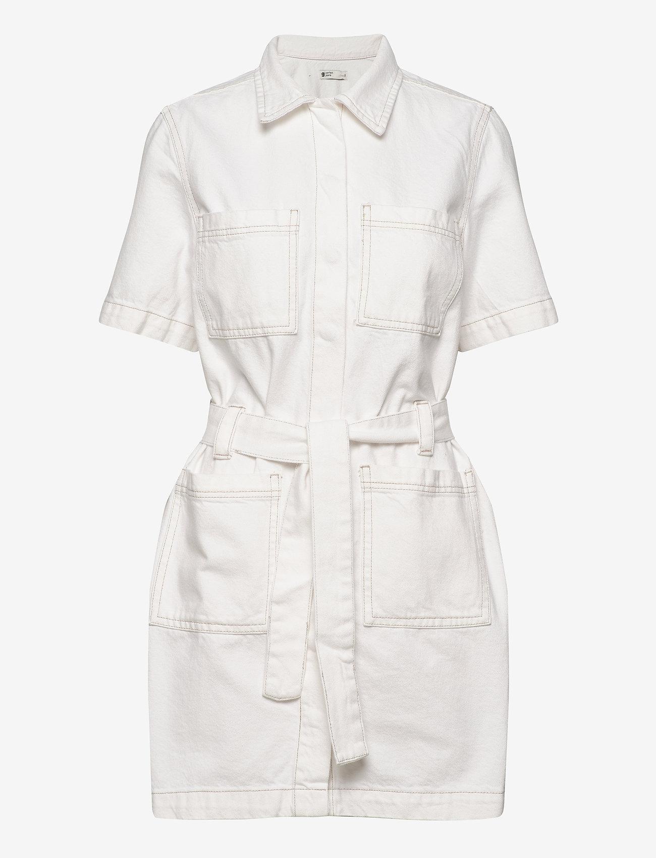 Gina Tricot - Utility denim dress - jeansowe sukienki - offwhite - 0