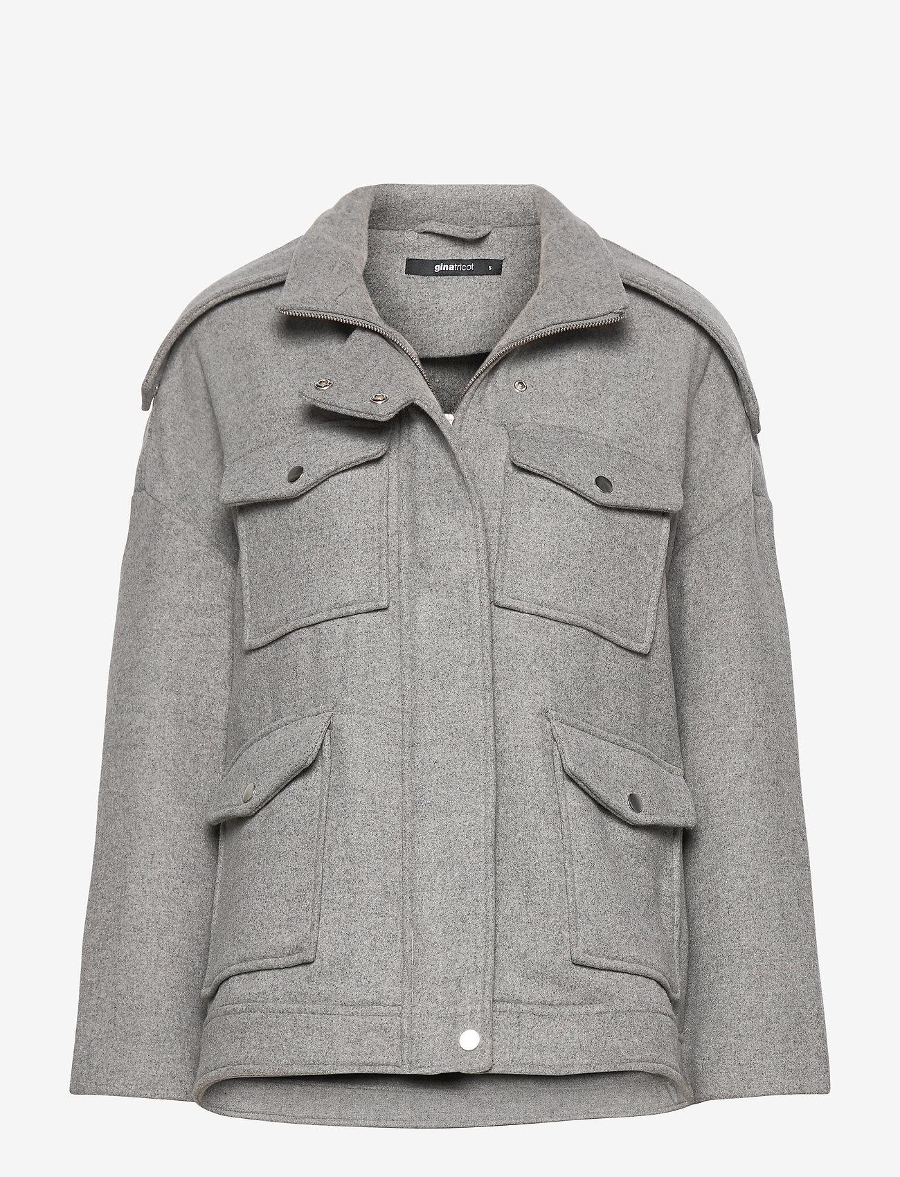 Gina Tricot - Lollo jacket - wool jackets - lt grey - 0