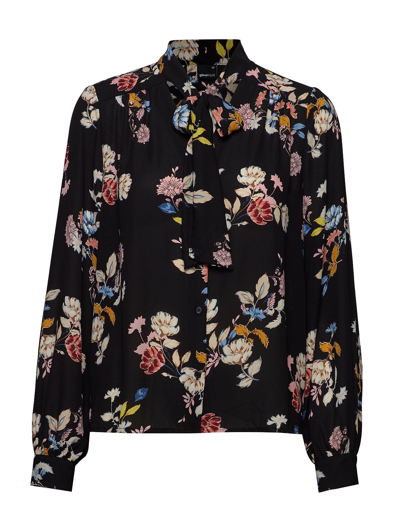 Gina Tricot Dolores tie neck blouse Ögrönlar